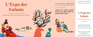 Expo des enfants, Loire VAlley Gallerie, Saumur, Géraldine Alibeu, Valérie Dumas, Minji Lee-Diebold, Clémence Pollet